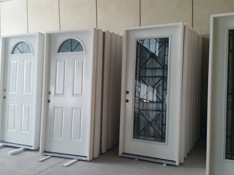 Steel Entry Door with Glass Inserted