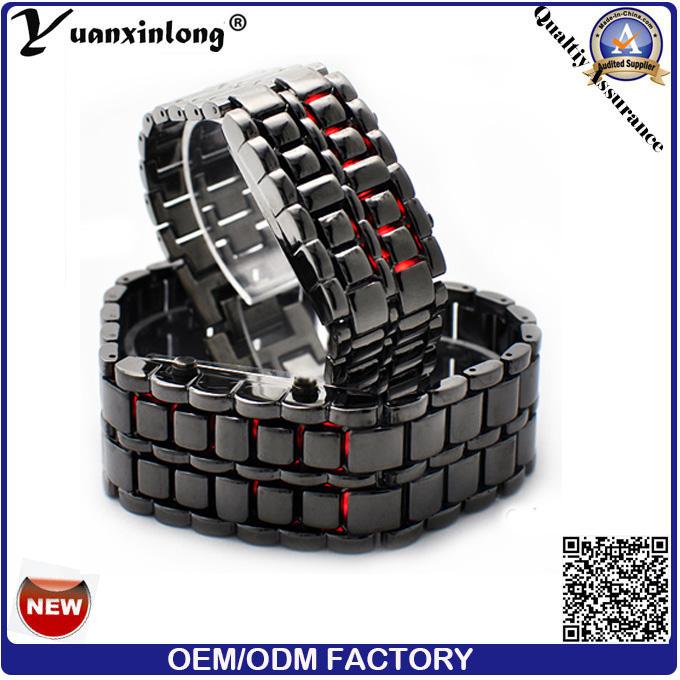 Yxl-146 Prolmotional Men's Lava LED Watch, Men Women Binary Watches, Good Quality Stainless Steel Metal Watch Womens Factory