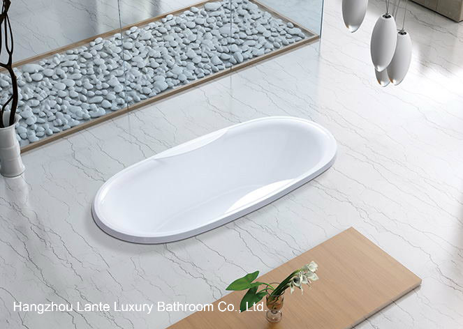 High Quality Oval Buit-in Bathtub with Acrylic Material (LT-9P)