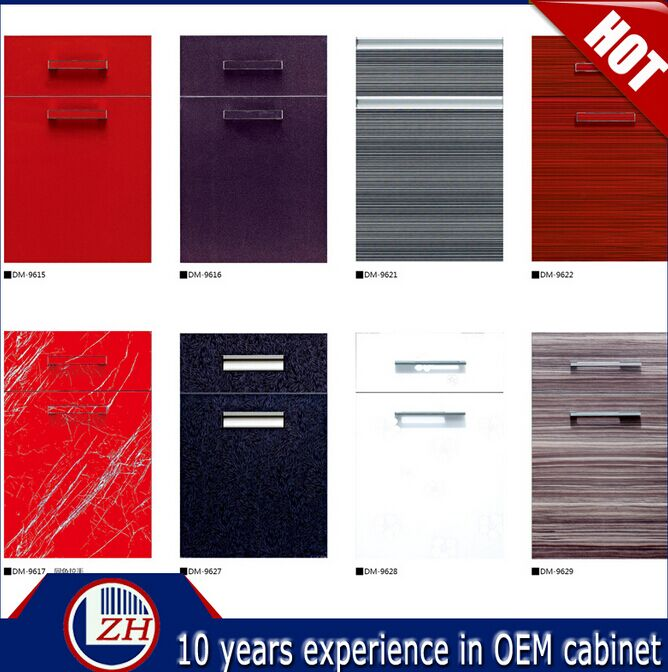 Lacqure Kitchen Cabinet Doors with Handles (customized)