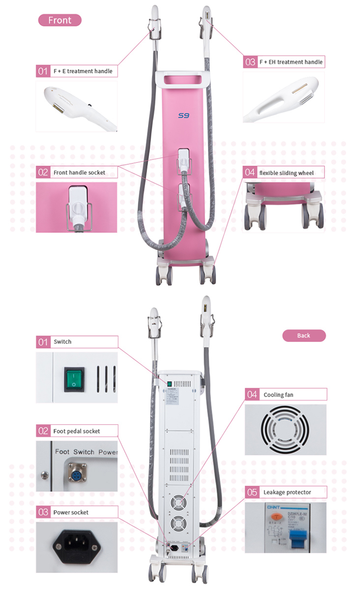 Vascular Removal IPL Shr Hair Removal Machine