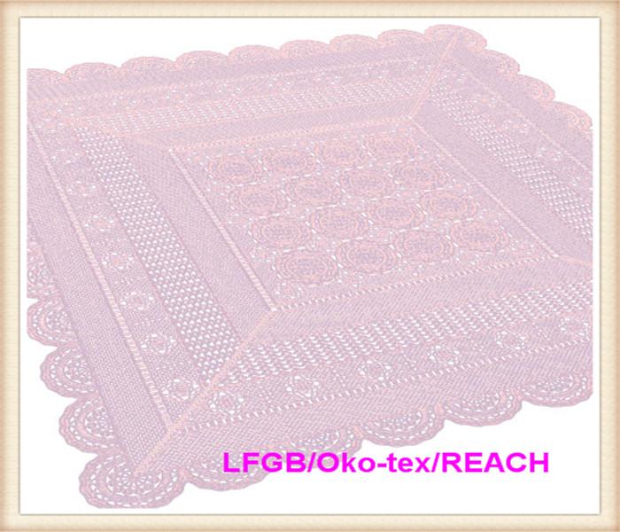 PVC Vinyl Color Crochet Lace Tablecloth New Designs