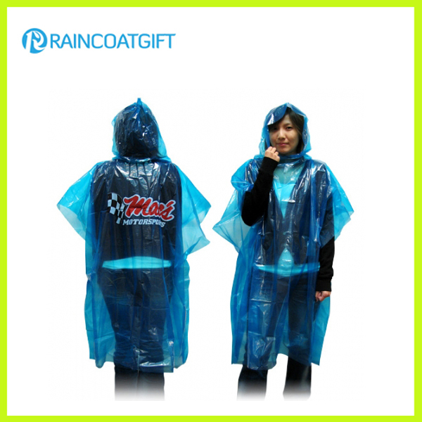 Emergency Disposable PE Rain Poncho Cape Rpe-046