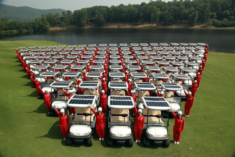 Excar 4 Seater Golf Cart with Solar Panel