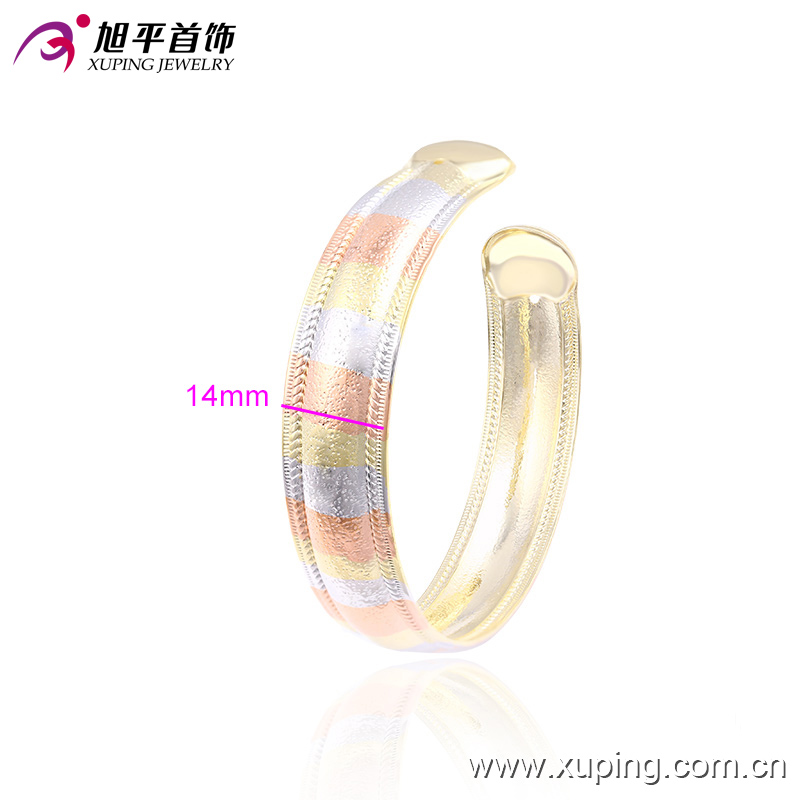 51399 Fashion Xuping Royal Multicolor Imitation Jewelry Bangle with Three -Stone Color in Brass and Alloy