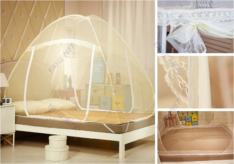Whopes Approved Insecticide Treated Portable Pop up Mosquito Net