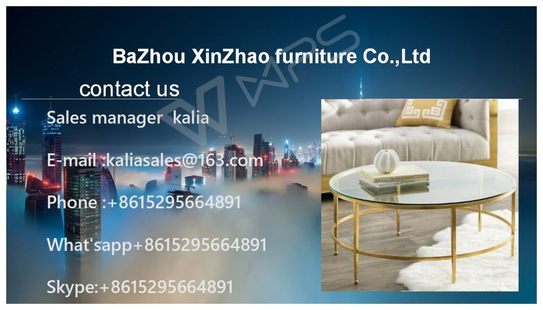 New Glass coffee Table Hot Sale with Factory Design Table