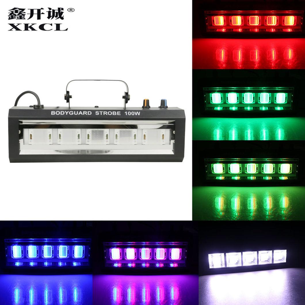 100W LED RGB Stage Equipment DMX Strobe Light for KTV Club