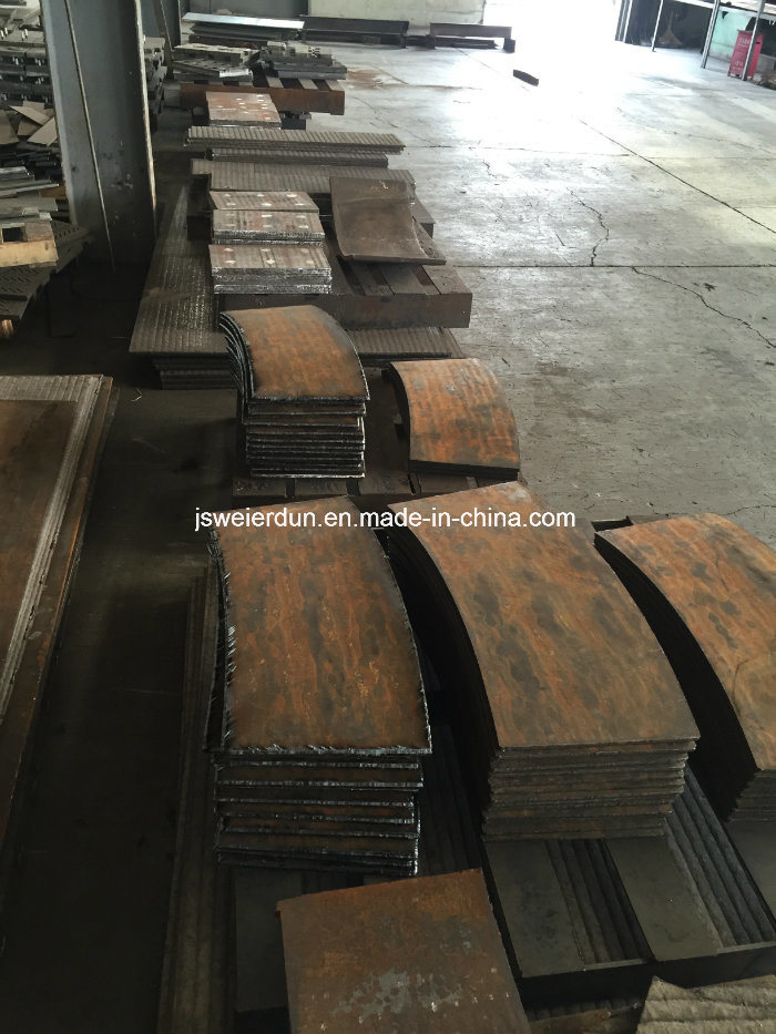 HRC 58-65 Chromium Carbide Wear Resistance Plate for Cylindrical Sepals Guide Vane/Wear Resistance Plate