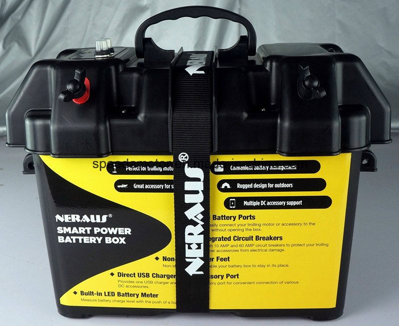 Black Smart Battery Box for Automotive, Marine, RV Batteries