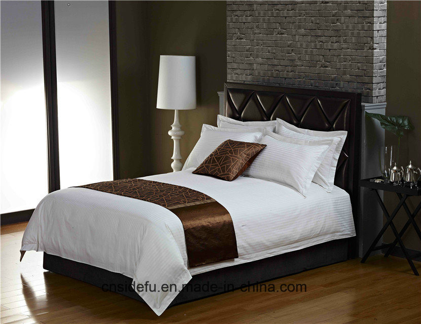 Hotel Bedding Set Single 1cm Satin Stripe Bed Sheets