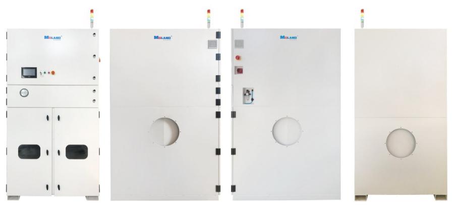 Colector de polvo de cortador de plasma láser integrado central de filtro de cartucho industrial