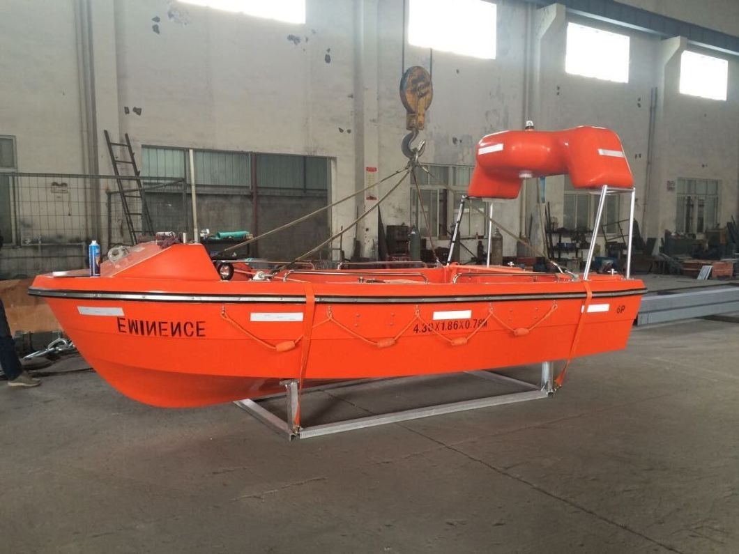 Fiberglass Fast Rescue Boat for 6 Persons