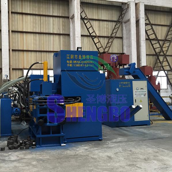 Hydraulic Automatic Horizontal Metal Slag Briquette Machine