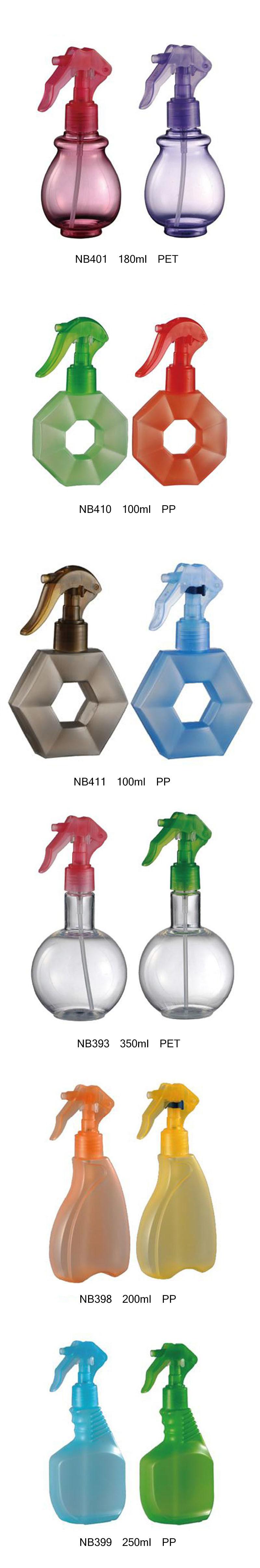 Plastic Pet Trigger Sprayer Bottle for Household Cleaning (NB393)