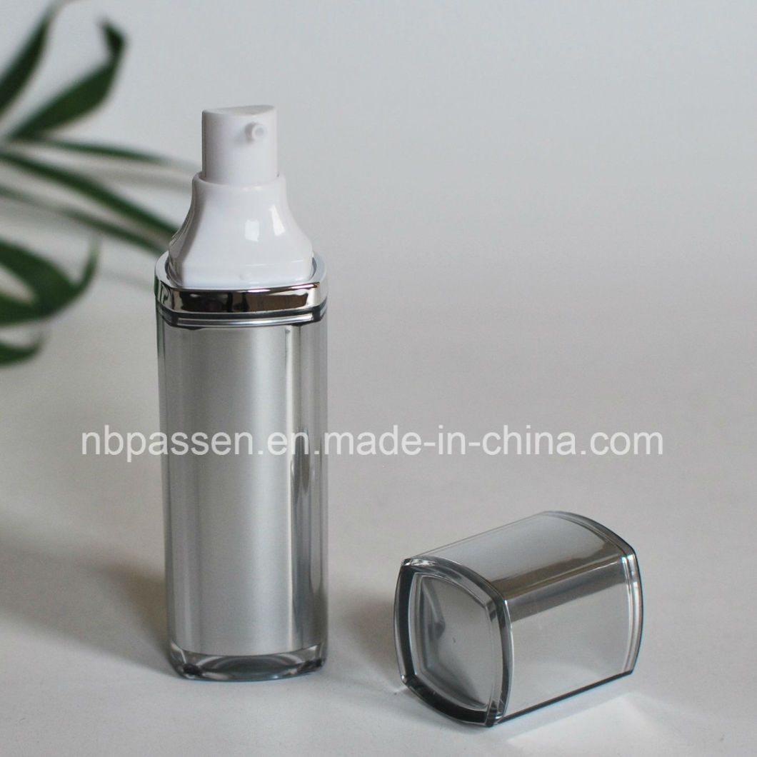 30ml Silver Gray Acrylic Cosmetics Bottle with Airless Pump for Cosmetic Packaging (PPC-NEW-098)