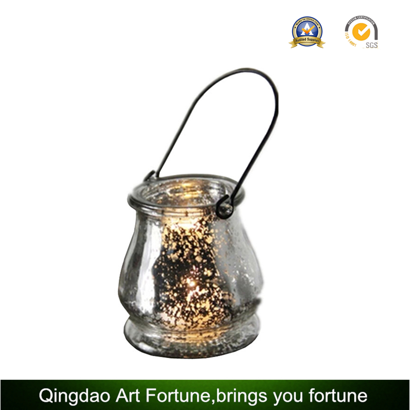 Glass Candle Huricane for Christmas Home Decoration