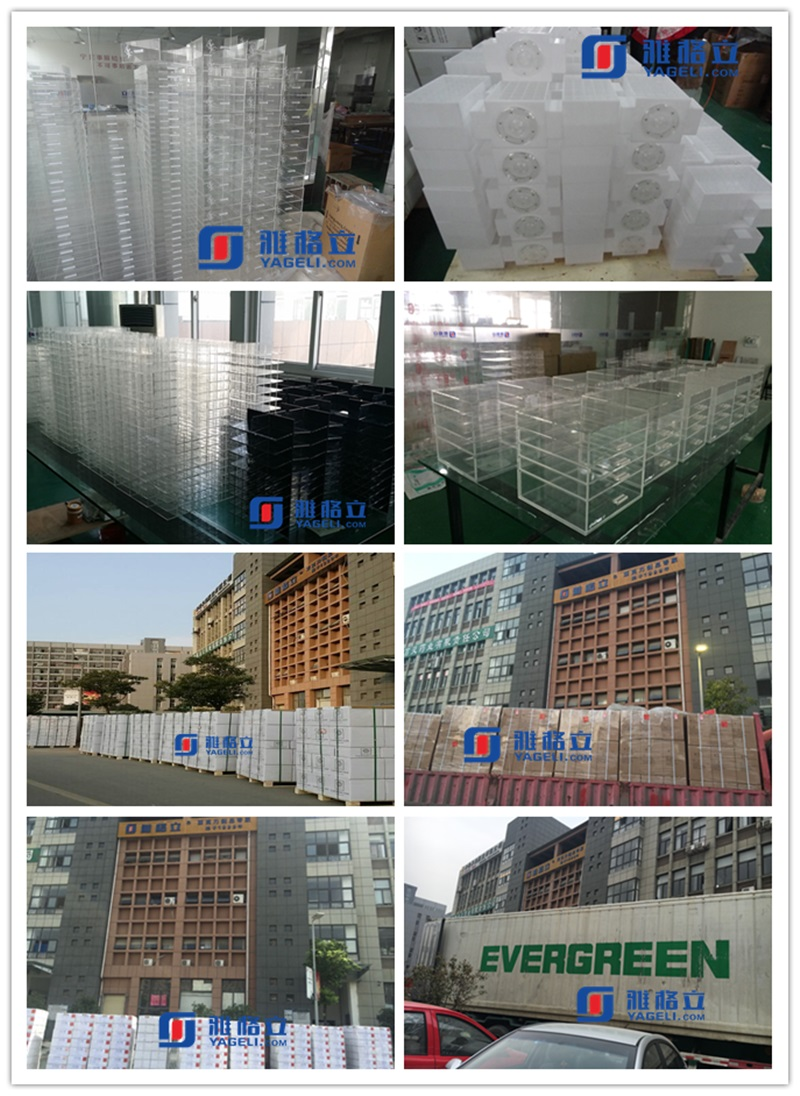 China Factory New Design Acrylic Spinning Lipstick Tower