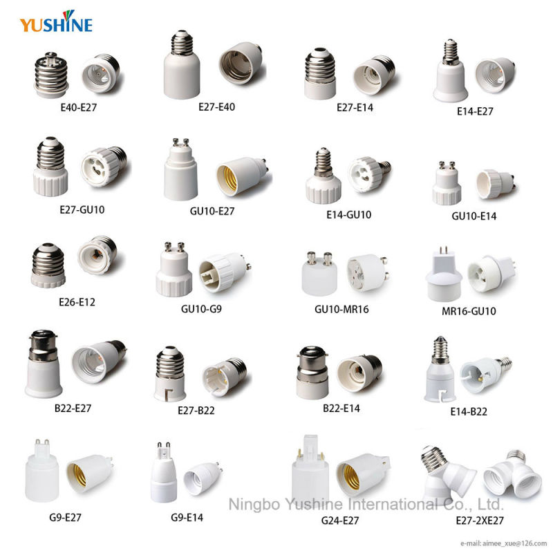 E40 to E27 Lamp Adapter with Ceramic Body