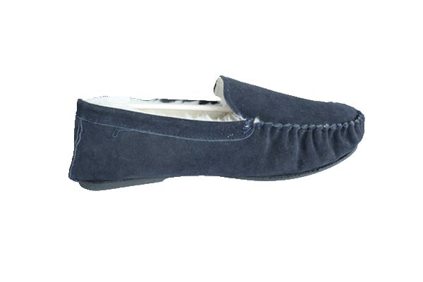 Man's Moccasin Shoes with Toe Cap Line Code