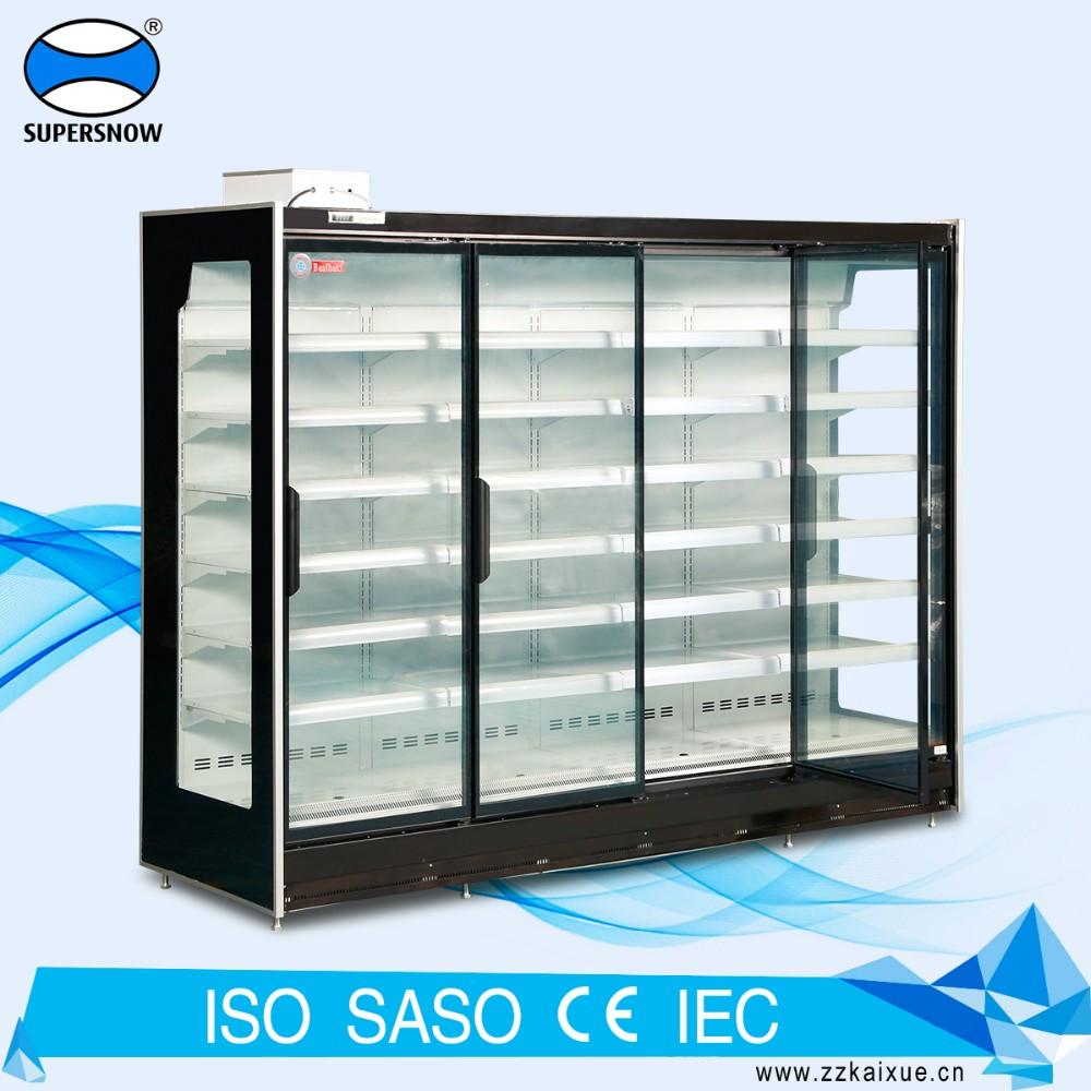 Remote type glass door chiller