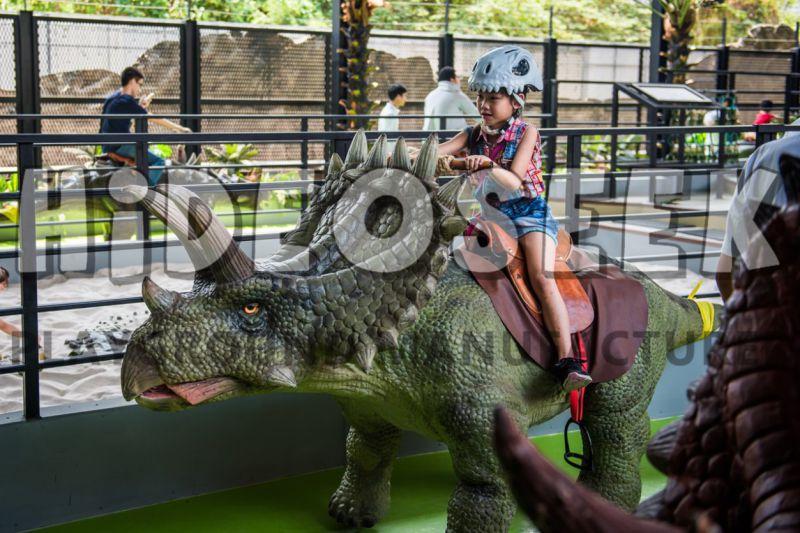 Simulation Animatronic Coin-Operated Amusement Parks Ride Animal Riding Dinosaur