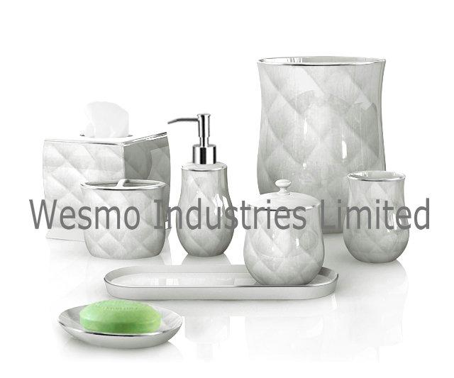 Porcelain Bath Accessories Set (WBC0634B)