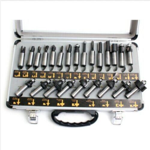 Smato Sm-Rb1224 (24P) Router Bit Set Shank Bits Tool Box 12mm 24PCS