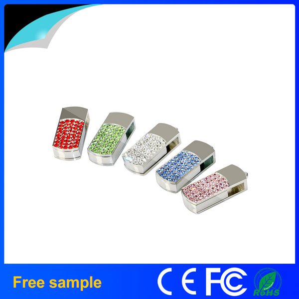 China Supplier Promotional Gift Crystal Metal USB Pen Drive 4GB 8GB