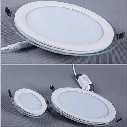 9W AC95-240V White LED Round Panel Light
