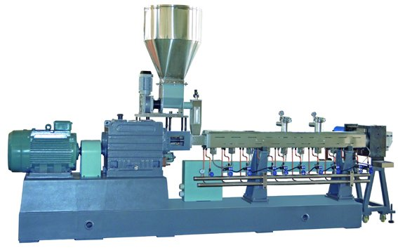 Plastic Twin Screw Extruder Graulating Machine