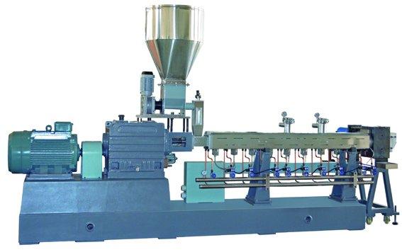 Plastic Twin Screw Extruder Graulating Machine