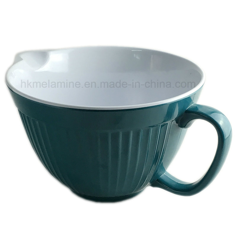2PCS Two Tone Melamine Mixing Bowl with Handle (BW270)