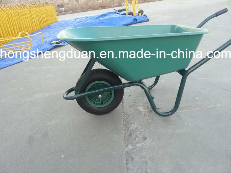 Pink Plastic Tray Wheel Barrow with Air Wheel