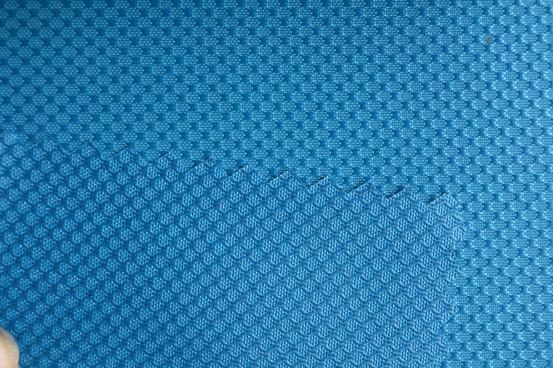 500d DOT Style Jacquard Oxford with PU Coated for Bag and Tent