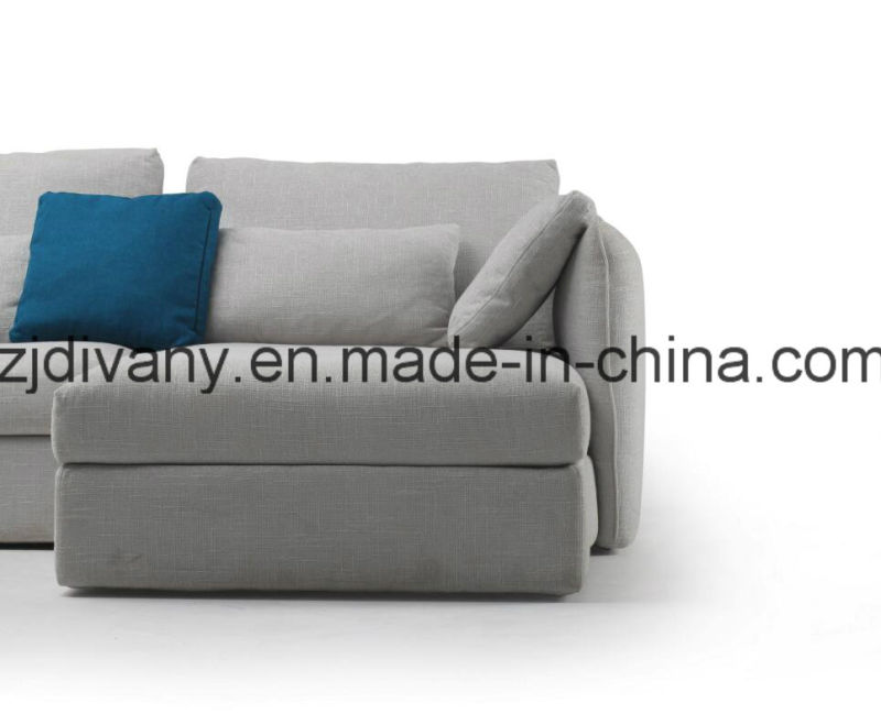 European Style Home Sofa Leather (D-74-D+B+E)