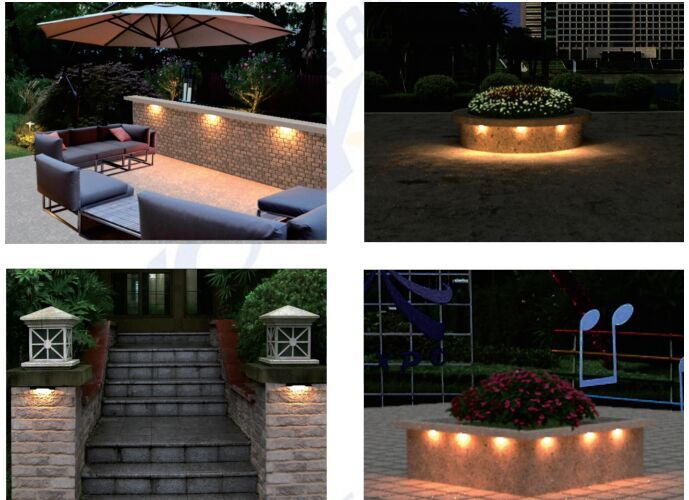 LED Hardscape Light 12VAC/DC 2W 220lm with Module IP67 Easy Maintainance Stair Step Lighting