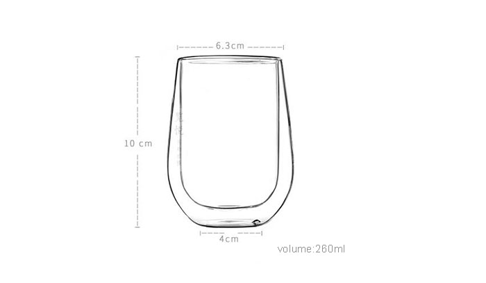Hand-Made Double Wall Whisky Glass Water Mug for Wholesaler