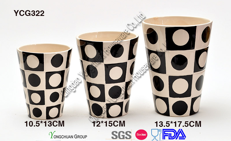 Porcelain Decorative Plant Pot Set for Wholesale