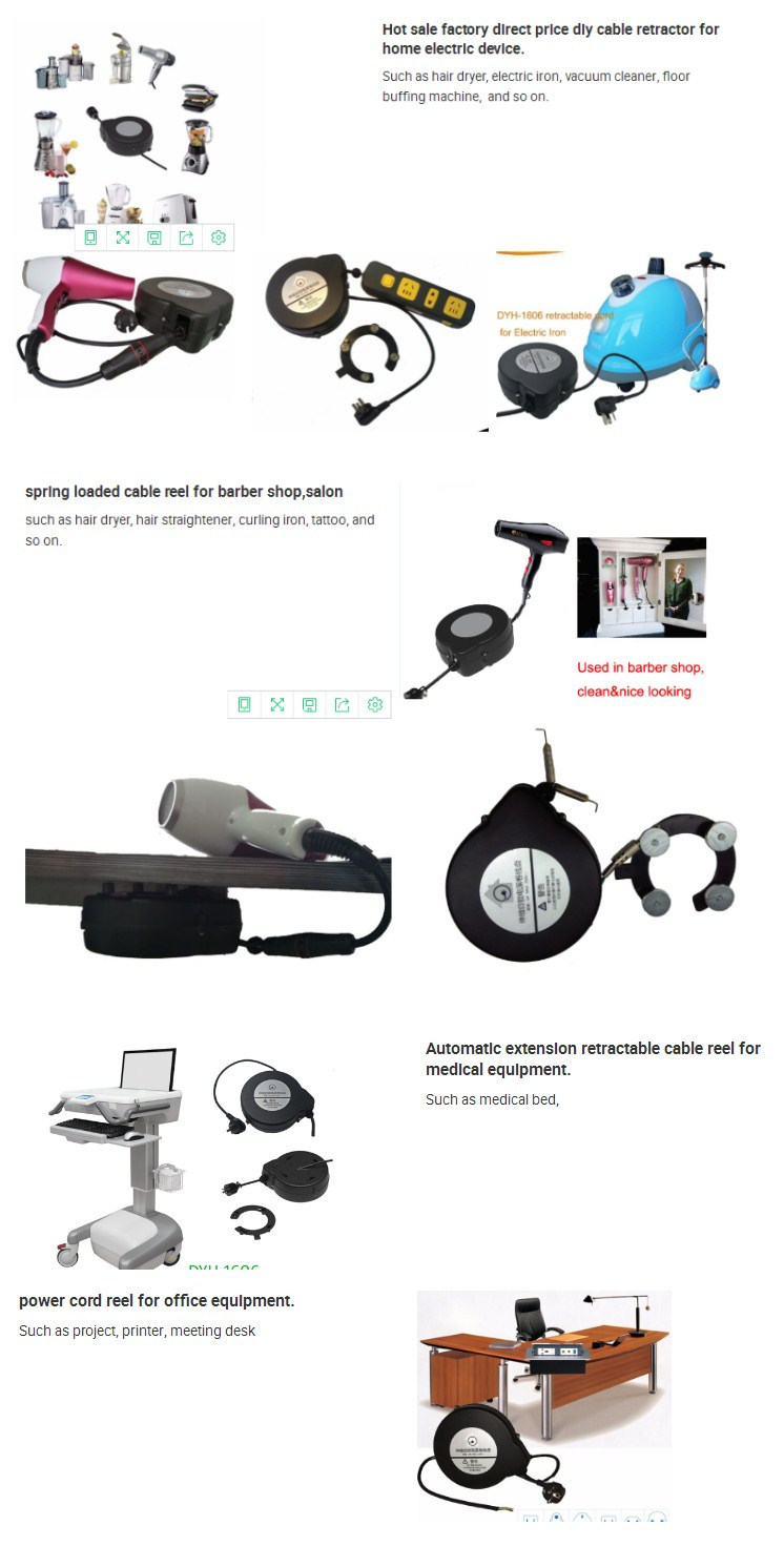 Dyh-1606 Retractable Cable Reel Extension Cord for Microphone