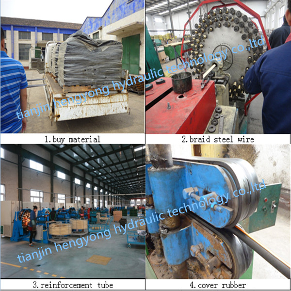 Heat Resistant Rubber Steam Hose with Steel Wire Reinforce