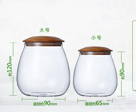 High Borosilicate Glass Air Tight Glass Jar Light Weight