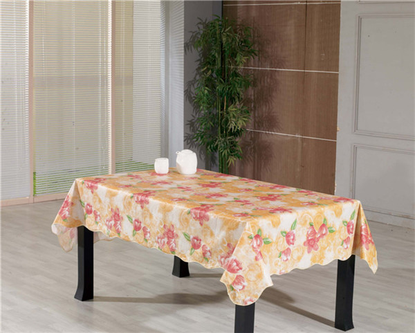 White Film PVC Tablecloth Opeque Printed