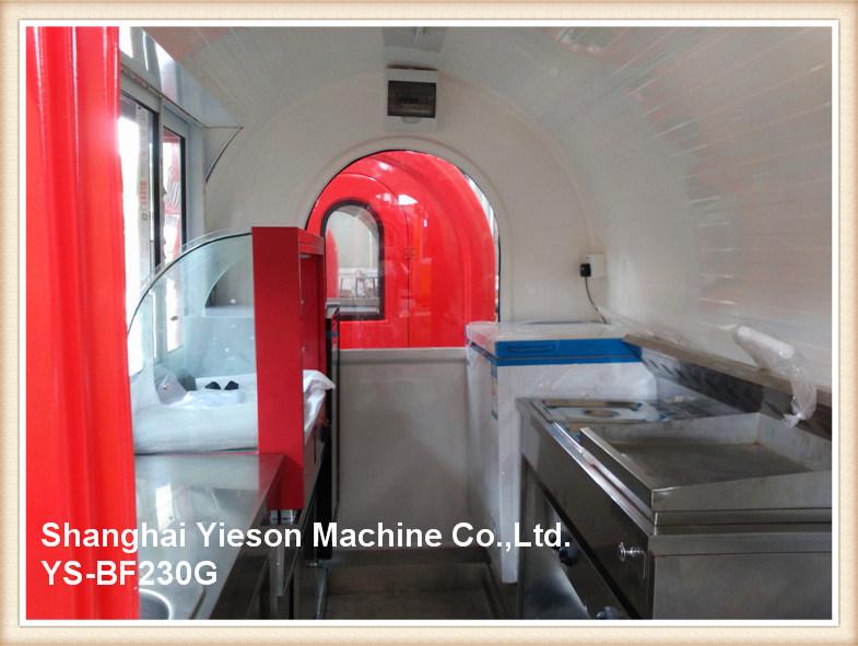 Ys-Bf230g Glass Sliding Window Mobile Food Carts Fast Food Kiosk