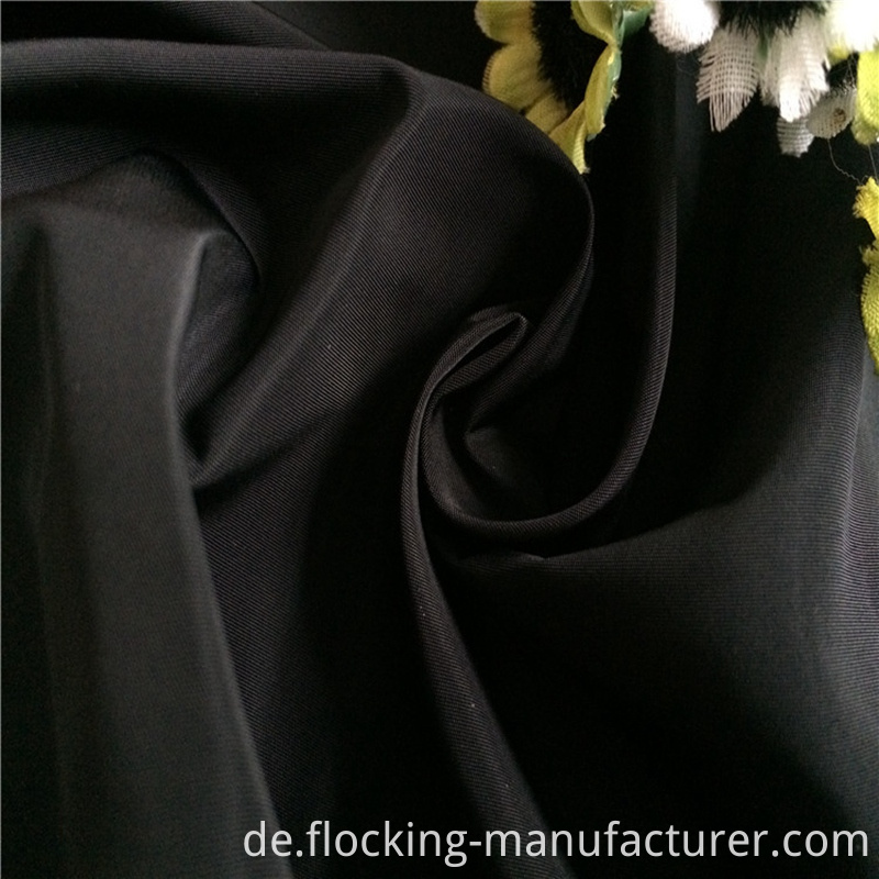 75D Black Poly Memory Fabric for Warm Parka