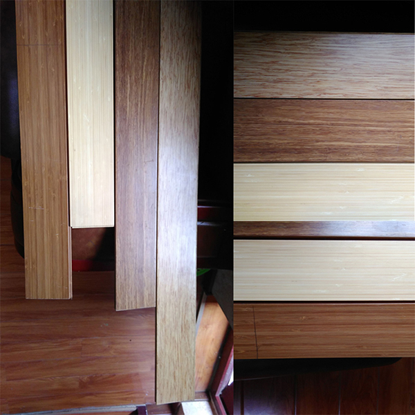 Solid UV Lacquer Vertical Carbonized Bamboo Flooring