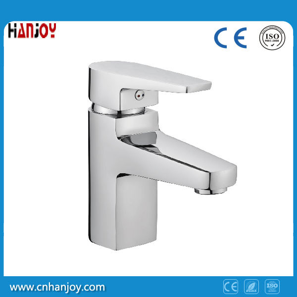 Sanitary Ware Deck Mounted Single Handle Brass Basin Faucet (H02-101)