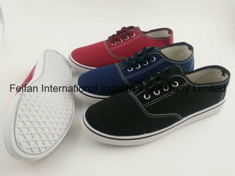 Latest Flat Women Canvas Injection Shoes with New Design, Walking Footwear Shoes