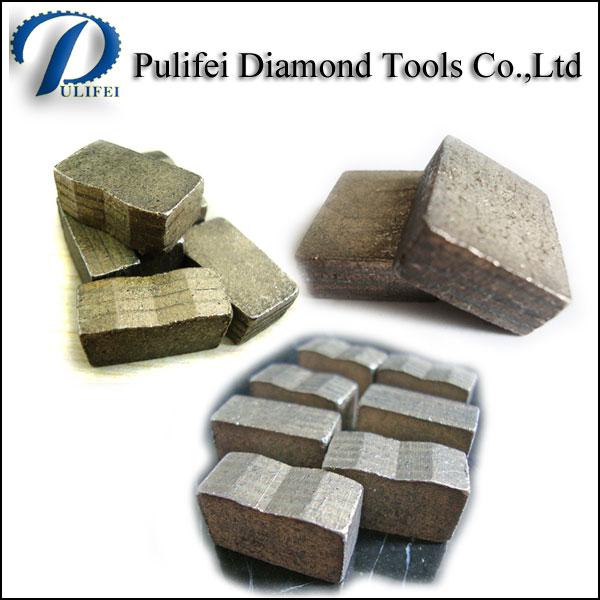 Big Size Diamond Saw Teeth Abrasive Stone Cutting Segment