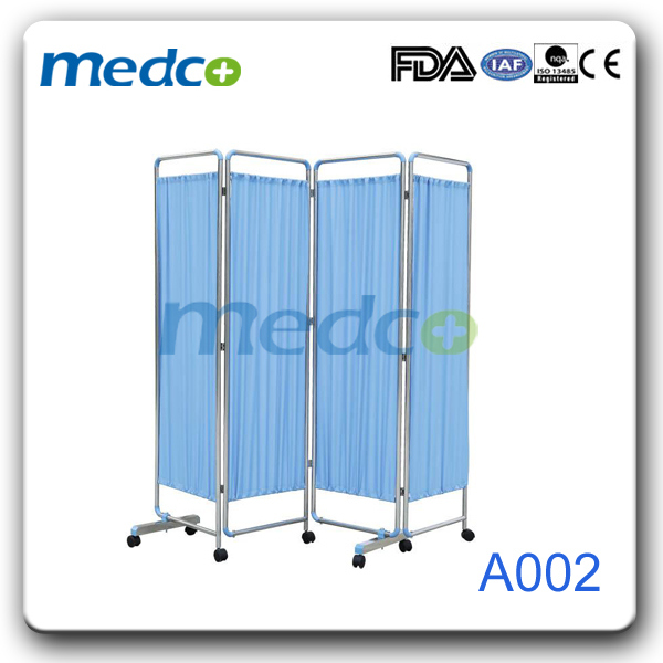 Stainless Steel Foldable Curtain, Hospital Bed Folding Ward Screen